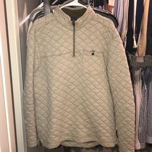 Eddie Bauer Quilted 1/4 zip sweater